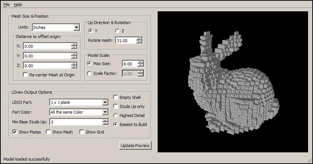 How do you convert a 3d model into bricks lego digital designer lsscreenlegog malvernweather Gallery